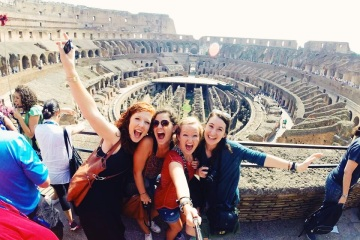 GoPro in Colosseum - Rome, Italy.
