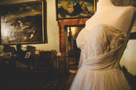Dress on exhibit in Palazzo Chigi