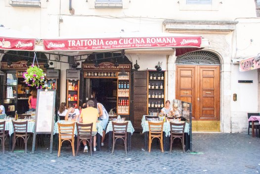 Cafe in Rome, Italy.